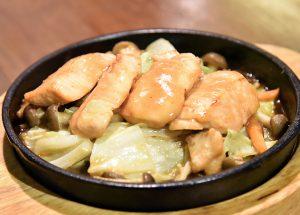 キノコとサーモン味噌焼き